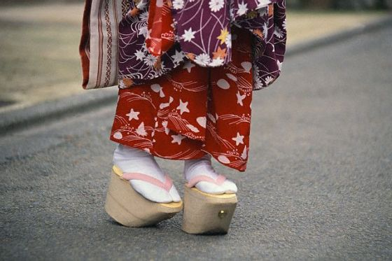 Vestimenta de una mujer oriental