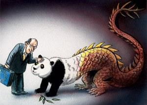 El dragón se transforma en un oso panda