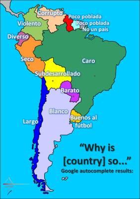 Autocompletar de google en sudamérica