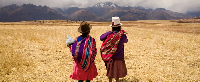 The image was taken at the village near Moray (Inca Terraces). Sacred Valley Near Cusco, Peru. --- Image by © Hugh Sitton/Corbis